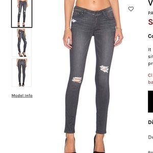 PAIGE Verdugo Ankle Skinny Jean Distressed Grey 29
